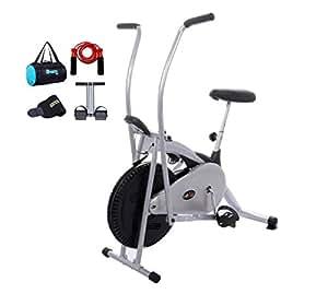 Lifeline LF-ABKDLX Exercise Bike with Complete Gym Bag (Black)