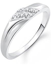 Meenaz American Diamond Cz Ring For Girls & Women Fr400