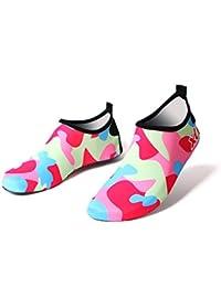 57b9906a67fff DoGeek Zapatos de Niño Zapatos de Agua de Natación Niños Zapatos de Niños  Descalzo Aqua Calcetines para la Piscina de Playa Surf Yoga…