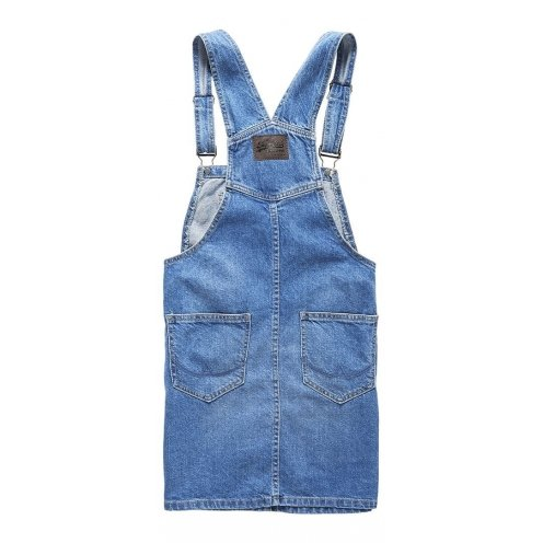 Robe Superdry Bethany Dungaree Dress Dark Wash Bleu