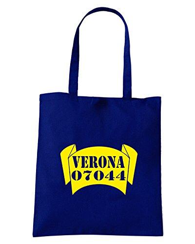 T-Shirtshock - Borsa Shopping TSTEM0130 verona zipcode banner Blu Navy