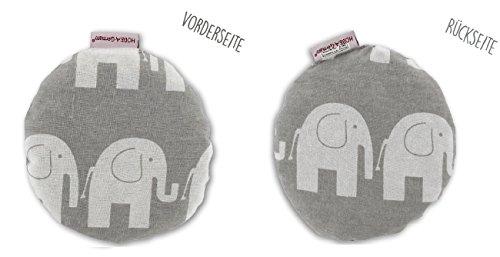 HOBEA-Germany Kirschkernkissen Wärmekissen Körnerkissen für Babys rund in verschiedenen Designs, Modell:Elefanten