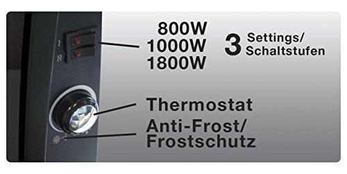 Honeywell  HCE890 BE Design-Konvektor Heizer mit Glasabdeckung / 1800 Watt - 6