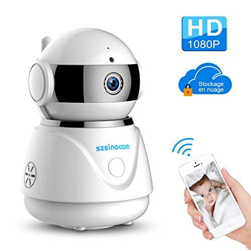 Caméra ip,SZSINOCAM 1080P HD Caméra Dôme de Surveillance Sans fil Caméra de...