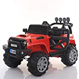 Baybee Thaar Battery Operated Ride On Car for Kids with Music, Horn, Headlights with 30Kg Weight Capacity ( Red)