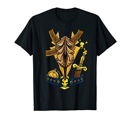 Lustiger Pirat Freibeuter Kostüm Halloween Geschenkhemd T-Shirt (Die Schatzsuche Halloween-party Für)