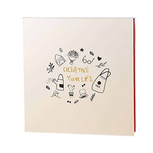 FOOHAO- Albums photo avec des pages collantes, Creative Living Book, mémoire de croissance pour enfants, 20 Pages (40 Surface) Pages intérieures