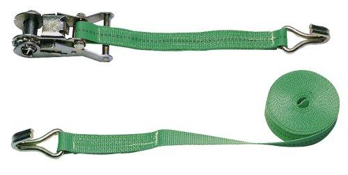 Eurofarm 3712 Zurrgurt zweiteilig, 6 m/25 mm im Blister grün