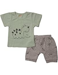 Kidofash Premium Quality Soft Cotton Sleepsuit Sleepware Top Bottom Sets for Baby Boys and Girls for Spring and Summer Season (for New Born to 3 Years Old)
