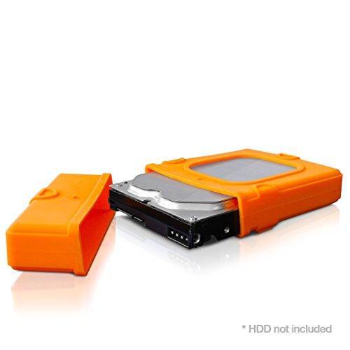 FANTEC Silikonschutzhülle ( Protection Sleeve für 8,89cm (3,5 Zoll) Festplatten, absorbiert Gerätevibrationen, dämpft Stöße und Erschütterungen) orange
