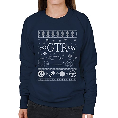 nissan-gtr-christmas-knit-womens-sweatshirt