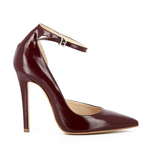 Bordeaux femme ouverts escarpins verni LISA semi cuir imprimé gH1w7nqS