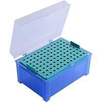 Moonlab-4-0075 Leere Box für Pipettenspitzen, 96 Plätze, PP, 2-200 µL, Blau
