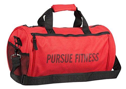 Verfolgen Fitness Essential Reisetasche und Turnbeutel Größe L rot / schwarz