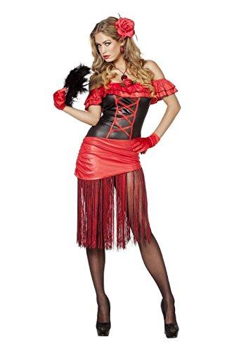 W4530-44 Damen Spanierin Kostüm Flamencokleid - Für Erwachsene Spanierin Kostüm