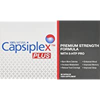Capsiplex Premium Strength Fat Burner & Natural Diet and Weight Loss Supplement with 5-HTP Mood Enhancer (2 x 30 Capsules)