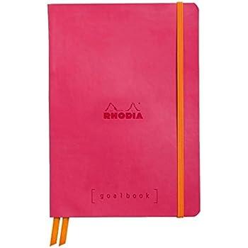 Clairefontaine Rhodiarama GoalBook carnet 240 pages numérotées ivoire dot à points A5 90 g Framboise