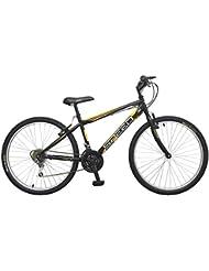 "Tomisa- Vélo 24"" modèle MTB Noir 6 Vitesses 9-12 Ans, 524"