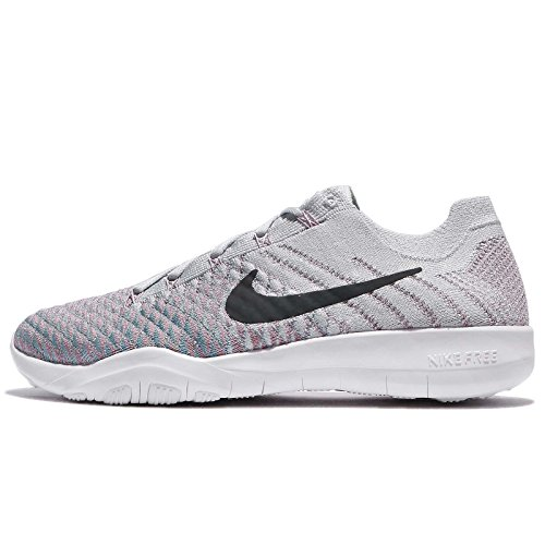 NIKE Free TR Flyknit 2 Womens Running Shoes (6 B(M) US, Pure Platinum/Anthracite) -