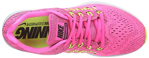 Nike  Air Zoom Vomero 10, Chaussures de course femmes Multicolore - Mehrfarbig (Mehrfarbig Pow/Black-Liquid Lime-Vlt 603)