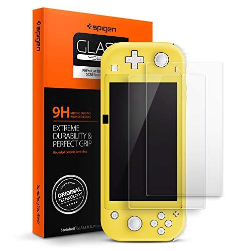 Spigen, 2 Pezzi, Vetro Temperato Nintendo Switch Lite Glas,tR Slim, Durezza 9H, Anti-Graffio, Anti-Impronta (AGL00219)