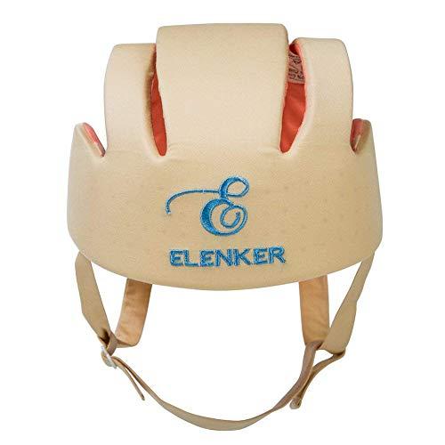 ELENKER ELENKER Babyhelm Kopfschutzmütze gegen Stöße für Kleinkind beim Lauflernen verstellbar Safety Helmet Beige