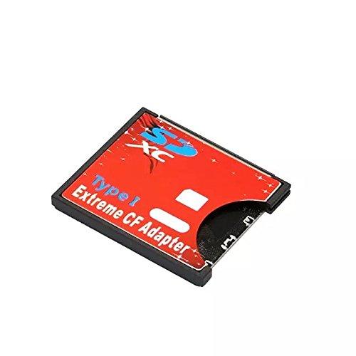 Goliton® SD CF jeux de cartes vers soutient sans fil Wifi SD Type de carte I adaptateur SLR-Rouge