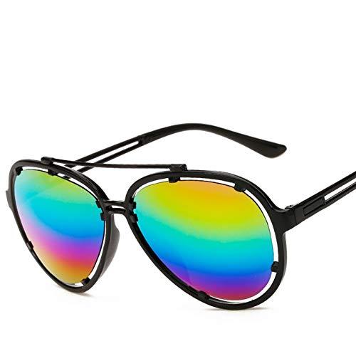 ACKCC Pilot Color Film SunglassesRainbow Sonnenbrille für Frauen Retro Outdoor Driving Glasses