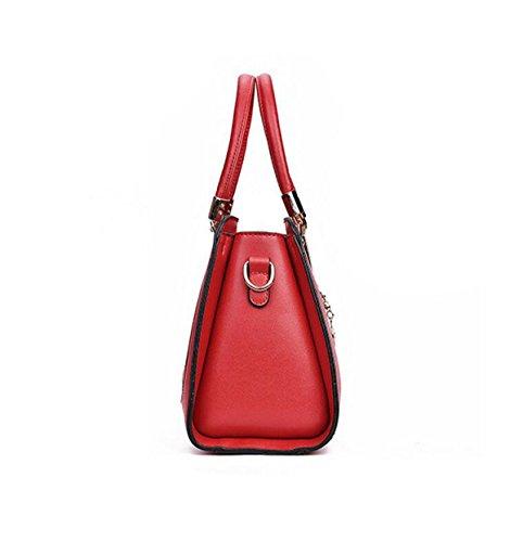 Damen Handtasche Umhängetasche Lässige Reise Einfache Wilde Nieten Paket Blue