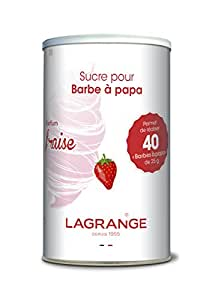Lagrange 380002 Sucre spécial Barbe à Papa 1 Kg Fraise