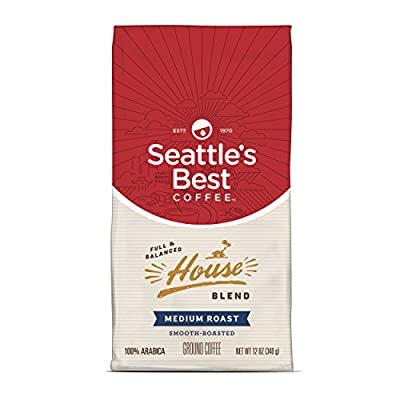 SEATTLES BEST COFFEE HOUSE BLEND BORN IN SEATTLE GROUND COFFEE 340g BAG AMERICAN IMPORT