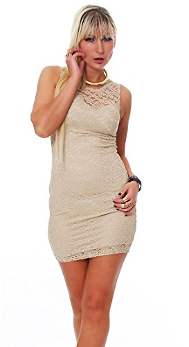 Fashion4Young -  Vestito  - Donna Beige