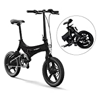 Lixada Bicicleta Eléctrica Plegable de 16 Pulgadas Power Assist Ciclomotor Bi...