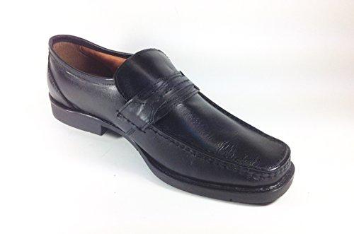 Scarpe uomo mocassino in pelle linea comoda SG01 Nero