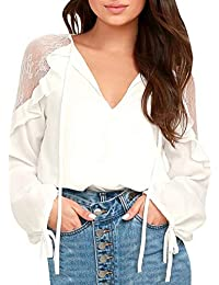 Mode Frauen Lace up Korsett Tops Langarm Drei Farben Solide Off Schulter Party Casual Top T-Shirt Größe S-L