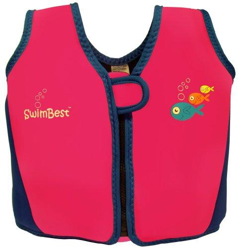 Swimbest - Baby/Kinder - Schwimmjacke / Schwimmweste aus Neopren, Pink/Marineblau , 18 Monate - 3 Jahre (Bis zu etwa 20 - Babys Schwimmweste Für