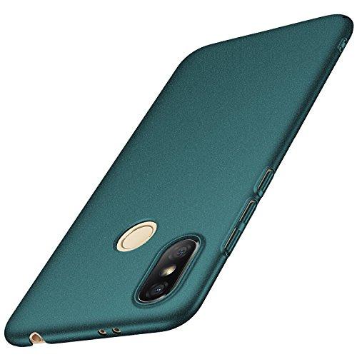anccer Xiaomi Redmi S2 Hülle, [Serie Matte] Elastische Schockabsorption und Ultra Thin Design für Xiaomi Redmi S2 (Kies Grün)