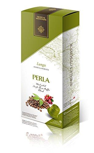 50-Bio-Kaffeekapseln-PERLA-Lungo-mit-Arabica-Kaffee-aus-Peru-ein-wenig-Robusta-Kaffee-aus-Indien--Gerstet-in-der-Schweiz--Mit-Nespresso-Maschinen-kompatibel--Kaffeekapseln-biologisch-abbaubar-Zertifik