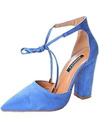 Minetom Donna Estate Scarpe Col Tacco Stiletto Elegante Cinturino Caviglia Tacco  Alto Pompe Partito Sandali Con 6d0d1f528ff