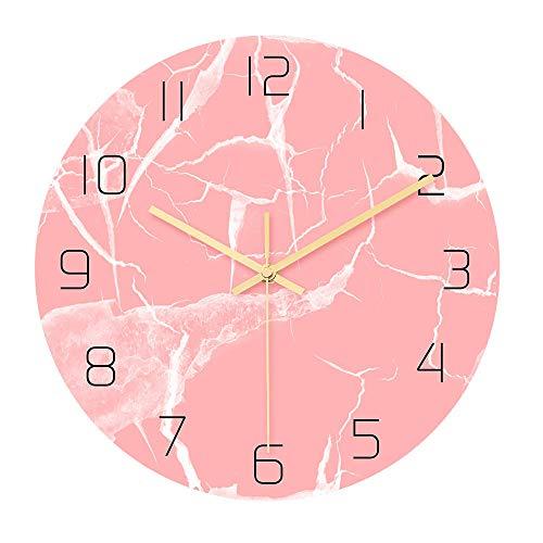 KXCTQ Wanduhr, Wanduhr, Wandtattoo Uhr, Wohnzimmer Schlafzimmer Dekoration Uhr, Stille Bewegung, Modern Light Luxury, Marmor Textur Uhr,3 - 3 Light-anhänger Aus Marmor