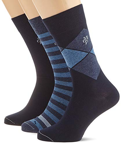 Marc O'Polo Herren Body & Beach  Socken, 3er Pack, Blau (sortiert 1 901), 39/42