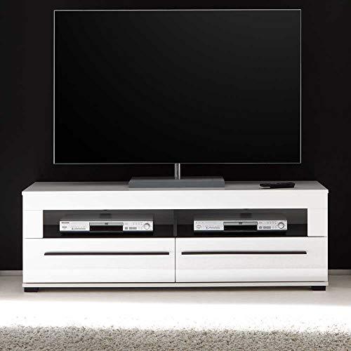Pharao24 TV Board in Hochglanz Weiß 140 cm