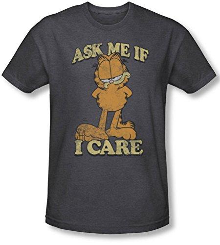 Garfield-Ask Me-Maglietta a maniche corte, da uomo, colore: carbone grigio XX-Large