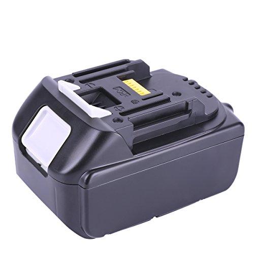 Preisvergleich Produktbild Biswaye Akku 18V Lithium-Ion Batterie Für Makita Werkzeugakkus ErsatzAkku Makita BL1850 BL1840 BL1830 BL1820 LXT-400 194204-5 (5000mAh)