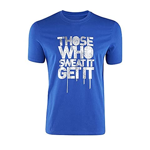 Zumba Men's ceux qui it T-Shirt de sudation Bleu Surfs-Up Blue petit