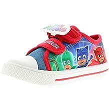 PJ Masks Personaje Niños Zapatos De Lona, con Toque Cierre Correas con Caracteres Gekko,
