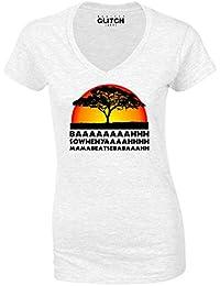 Reality Glitch Women's Lion Chant V-Neck T-Shirt