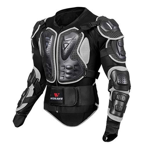 Sanqing Motorrad-Schutzjacke, atmungsaktive Motorrad-Ganzkörper-Rüstungsschutz-Rennjacke Motocross-Schutzhemd für Outdoor-Sport-Schutzjacke,Black,XXL - Fox Racing Jersey Mesh