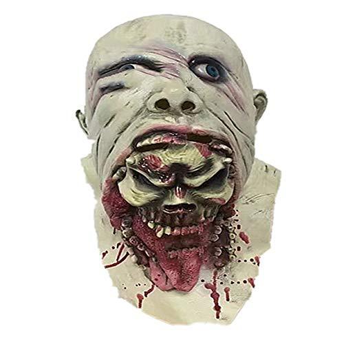 GAIHU Zombie Latex Halloween Maske Erwachsener,Horror Maske Für Karneval Halloween Cosplay/Kind Maske,B