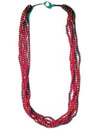 Halskette aus 5 Saiten Rote Koralle